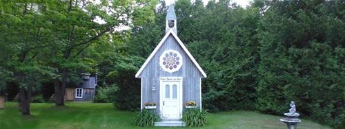 Une chapelle nous permet d'organiser des cérémonies de mariage uniques !