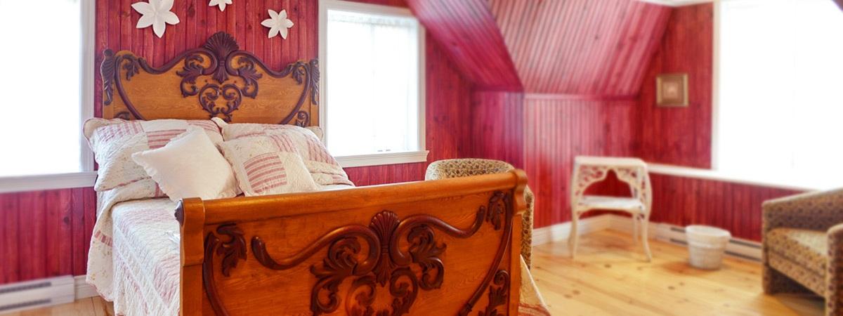 La chambre rose, pour une escapade en amoureux